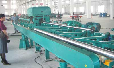 Centerless lathe straightening roller-ray machine line unit